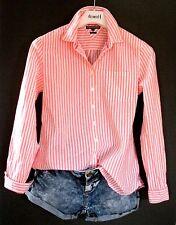 Tommy Hilfiger Business Freizeit Bluse 38 US 8 orange weiß Streifen neuwertig