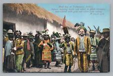 Feast Day—Tiahuanaco Bolivia—Rare Antique Tiwanaku Indians—Tarjeta Postal 1910s