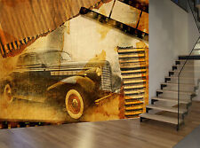 Vintage Retro Classic Old Car Wall Mural Photo Wallpaper GIANT WALL DECOR