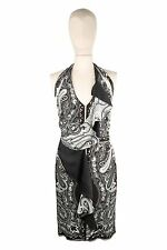 NWT ETRO Dress Viscose/Silk Brown/Gray/White/Green Paisley Pattern 10US/46IT
