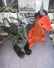 Jellycat London I Am Forest Dragon & I Am Paprika Dragon Soft Plush Toy Bundle