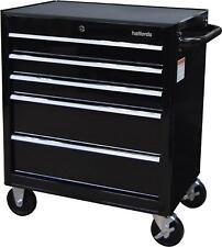 Halfords 5 Drawer Tool Cabinet Lockable Max Load 125kg Storage Garage - Black