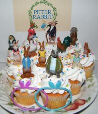 Peter Rabbit Cake Toppers Set with 14 with Fun Figures and Neat Toys
