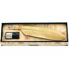 Feather Quill Penna E Inchiostro Calligrafia Set-Gold-fantastico regalo