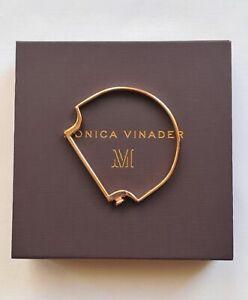 Monica Vinader Thin Bangle Rose Gold Vermeil  Sterling Silver