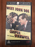 MEET JOHN DOE GARY COOPER BARBARA STANWYCK FRANK CAPRA AS NEW PAL VHS VIDEO