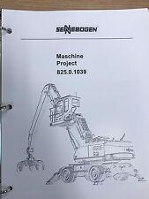 Sennebogen 825 Parts Manual Binder 825.0.1039 USPS Priority Mail