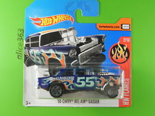 Hot Wheels 2017 -'55 CHEVY BEL AIR GASSER-HW Flames - 109-Neuf dans neuf dans sa boîte