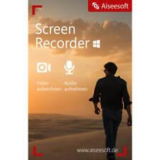 Screen Recorder win aiseesoft dt. versión completa Lifetime licencia descarga 14,99!