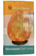 NEW Mineralamp Natural Himalayan Rock Salt Lamp 5 lbs Wood Base Dimmer Switch