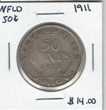 Canada Newfoundland 1911 50 Cent Silver