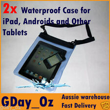 2x Waterproof Dry Carry Case. For Android, Galaxy Tab, Xoom, Kindle, iPad, Table