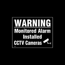 CCTV Window Sticker, Sign - 150mm x 200mm (A5) - Security, Camera, (MISC36)