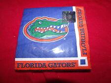 Florida Gators pack of 20 2 ply 9-7/8x9 7/8 25 cm x 25cm napkins - multicolor
