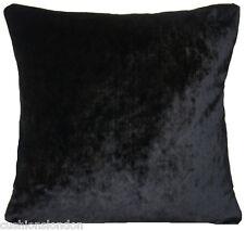 "Black Cushion Cover Designers Guild Velvet Fabric Shimmering Textile Square 16"""