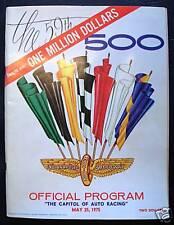 INDIANAPOLIS 500 OFFICIAL PROGRAMME PROGRAM 1975 RACE