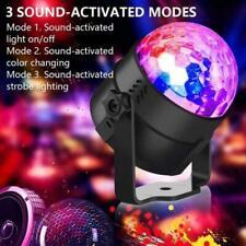 Sound Active RGB LED Stage Light Crystal Ball Disco Xmas Club DJ Party Remote UK
