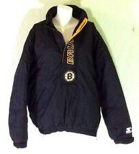Starter Boston Bruins Hockey Pullover Winter Parka Jacket 1/3 Zip Large