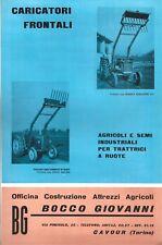 Depliant Bocco Giovanni - Caricatori Frontali - anni '60 Cavour Torino Trattori
