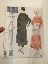 Vogue Designer Sewing Pattern 2535 size 6 8 10 1928 Dress with cape Vintage