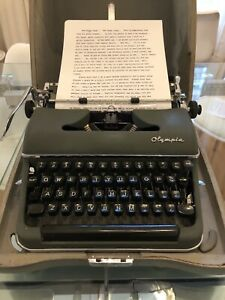 """1957 Olympia SM3 """"Ernestine Tomlin"""" Quirky with Personality..Snort, Snort - Read"""