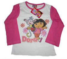 T-shirts et débardeurs blancs en polyester pour fille de 5 à 6 ans