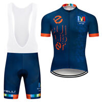 2021 Men's Pro Cycling Jersey Set Bib Shorts Kits Short Sleeve Shirt Pad Shorts