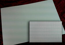 10 x sheets A4 Double Sided White Pearl  Card - Canvas Embossed 300gsm