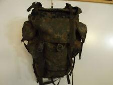 Original german army Bundeswehr combat backpack Rucksack flecktarn camo 65Ltr