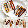 Women Vintage Leopard Hair Clip Hairband Comb Bobby Pin Barrette Hairpin Acrylic