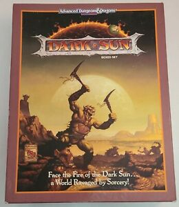 Advanced Dungeon & Dragons ~ Dark Sun ~ Boxed Set ~ TSR ~ USED ~ AD&D