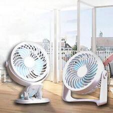 360° Oscillating Clip Fan Mini USB Powered Desk Personal Cooler Cooling UK Nice