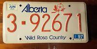 ALBERTA   License plate Antique  Classic Vintage Collector  Wild Rose 3-92671