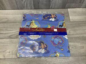 Vintage Disney's ALADDIN Gift Wrap Wrapping Paper Abu Genie 2 Sheets 1 Pkg NIP