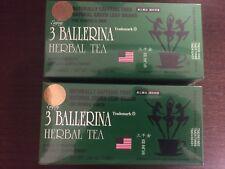 2 BX 3 BALLERINA TEA EXTRA STRENGTH 18 BAGS EA BOX 100% ORIGINAL-TE DE BAILARINA