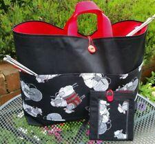 Knitting Bag Large Black, Knitting Sheep Pockets, Free Sewing Kit, Organiser  UK