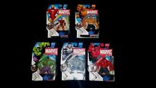 "MARVEL UNIVERSE FIGURE LOT OF 5 3.75"" IRON MAN THING RED GREY HULK S.H.I.E.L.D."