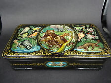 "Russian Lacquer Box ""Wild nature"" 769 - Kholui hand painted Russian  Box"