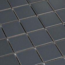 Cerámica Mosaico Liso Cuadrados Gris Oscuro Gris mate baldosas 4,8 x 4,8cm