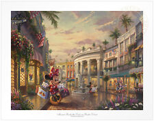 Thomas Kinkade Minnie Rocks the Dots on Rodeo Drive 12 x 16 S/N Le Paper