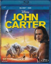 John Carter (2-Disc Blu-ray + DVD, 2012, Disney) VERY GOOD / FREE SHIPPING