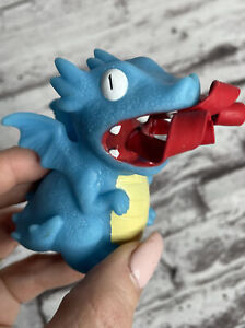 Schylling Curly Pop Dragon Squeeze Toy Small Novelty Rubber Figure