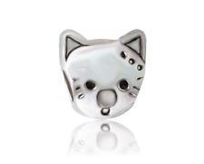 1Pcs Silver Cat Charm Bead Fit European Bracelet  ju09