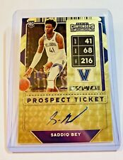 2020-21 CONTENDERS SADDIQ BEY AUTO RPS PROSPECT TICKET GOLD SUPERFRACTOR 1/1 SP