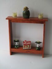 Narrow console Table Rustic small Entry way Hallway Table Rustic Gunstock Stain