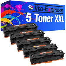 5 Toner ProSerie für HP CF540A-CF543A Color LaserJet Pro MFP M281 FDW M254 DNW