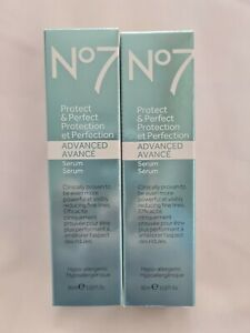 2 x Boots No7 Protect and Perfect Advanced Serum Eye cream 30ml UK SELLER