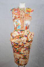 Stella Jean Rock apricot bunt Baumwolle skirt cotton D38 F 40 UK 12 I 42