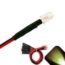 10 x Pre wired 12v 5mm Warm Soft White LEDs Prewired 12 volt LED PC 13v 14v 15v