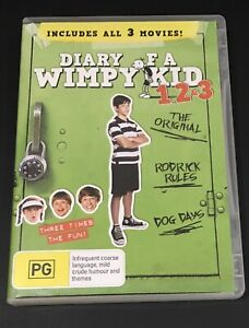 Diary Of A Wimpy Kid 1,2 & 3 (2013 : 3 Disc DVD Set)Very Good Condition Region 4